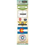 Scrapbook Customs - Vintage Label Collection - Cardstock Stickers - Colorado Vintage