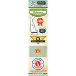 Scrapbook Customs - Vintage Label Collection - Cardstock Stickers - Delaware Vintage