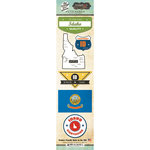 Scrapbook Customs - Vintage Label Collection - Cardstock Stickers - Idaho Vintage