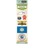 Scrapbook Customs - Vintage Label Collection - Cardstock Stickers - Kentucky Vintage