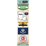Scrapbook Customs - Vintage Label Collection - Cardstock Stickers - Louisiana Vintage