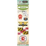 Scrapbook Customs - Vintage Label Collection - Cardstock Stickers - Maryland Vintage