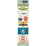 Scrapbook Customs - Vintage Label Collection - Cardstock Stickers - Montana Vintage