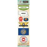 Scrapbook Customs - Vintage Label Collection - Cardstock Stickers - Nebraska Vintage