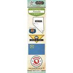 Scrapbook Customs - Vintage Label Collection - Cardstock Stickers - Nevada Vintage