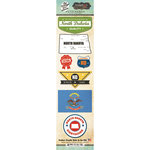 Scrapbook Customs - Vintage Label Collection - Cardstock Stickers - North Dakota Vintage
