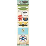 Scrapbook Customs - Vintage Label Collection - Cardstock Stickers - Oklahoma Vintage