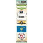 Scrapbook Customs - Vintage Label Collection - Cardstock Stickers - Oregon Vintage