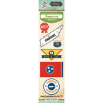 Scrapbook Customs - Vintage Label Collection - Cardstock Stickers - Tennessee Vintage