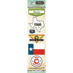 Scrapbook Customs - Vintage Label Collection - Cardstock Stickers - Texas Vintage