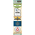 Scrapbook Customs - Vintage Label Collection - Cardstock Stickers - Utah Vintage