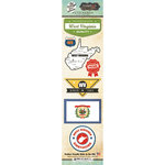Scrapbook Customs - Vintage Label Collection - Cardstock Stickers - West Virginia Vintage