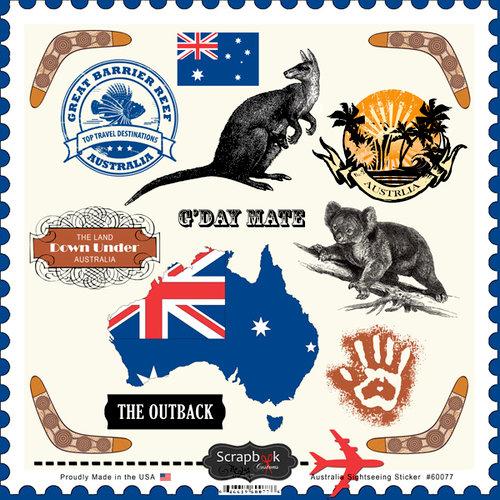Scrapbook Customs - 12 x 12 Cardstock Stickers - Australia Sightseeing