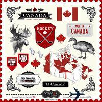 Scrapbook Customs - 12 x 12 Cardstock Stickers - Canada Sightseeing
