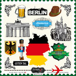 Scrapbook Customs - 12 x 12 Cardstock Stickers - Germany Sightseeing