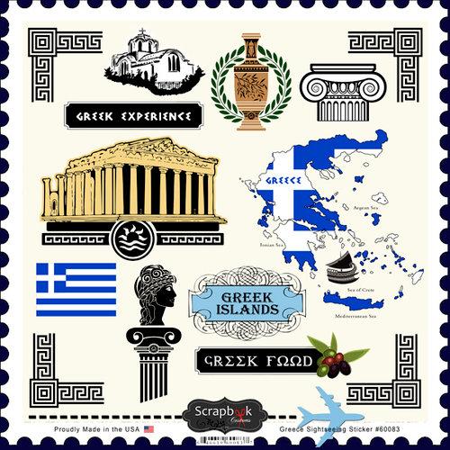 Scrapbook Customs - 12 x 12 Cardstock Stickers - Greece Sightseeing