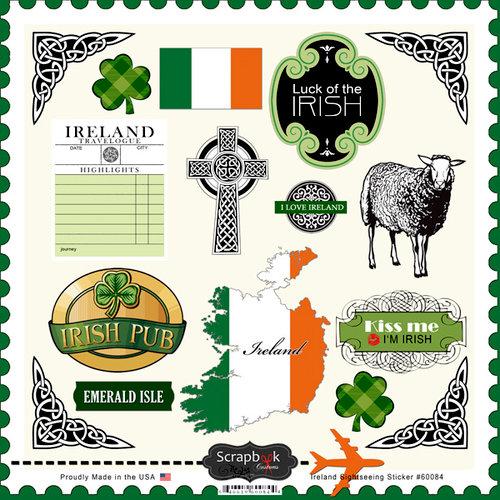 Scrapbook Customs - 12 x 12 Cardstock Stickers - Ireland Sightseeing