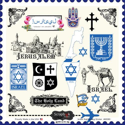 Scrapbook Customs - 12 x 12 Cardstock Stickers - Israel Sightseeing