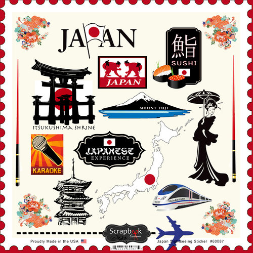 Scrapbook Customs - 12 x 12 Cardstock Stickers - Japan Sightseeing