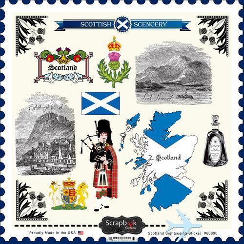 Scrapbook Customs - 12 x 12 Cardstock Stickers - Scotland Sightseeing