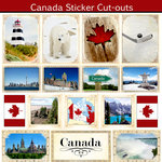 Scrapbook Customs - 12 x 12 Sticker Cut Outs - Canada Sightseeing