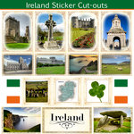 Scrapbook Customs - 12 x 12 Sticker Cut Outs - Ireland Sightseeing