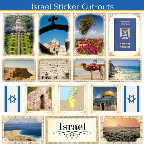 Scrapbook Customs - 12 x 12 Sticker Cut Outs - Israel Sightseeing