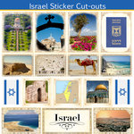 Scrapbook Customs - 12 x 12 Sticker Cut Outs - Israel Sightseeing