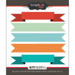 Scrapbook Customs - Cardstock Stickers - Blank Colored Banners