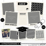 Scrapbook Customs - Graduation Collection - 12 x 12 Cardstock Stickers - Photogram Borders