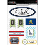 Scrapbook Customs - Travel Photo Journaling Collection - 3 Dimensional Stickers - Idaho