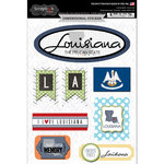 Scrapbook Customs - Travel Photo Journaling Collection - 3 Dimensional Stickers - Louisiana