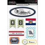 Scrapbook Customs - Travel Photo Journaling Collection - 3 Dimensional Stickers - Missouri