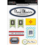 Scrapbook Customs - Travel Photo Journaling Collection - 3 Dimensional Stickers - New Mexico