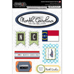 Scrapbook Customs - Travel Photo Journaling Collection - 3 Dimensional Stickers - North Carolina