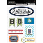 Scrapbook Customs - Travel Photo Journaling Collection - 3 Dimensional Stickers - South Dakota