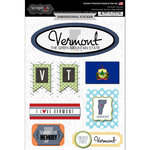 Scrapbook Customs - Travel Photo Journaling Collection - 3 Dimensional Stickers - Vermont