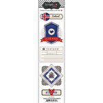 Scrapbook Customs - Travel Photo Journaling Collection - Doo Dads - Self Adhesive Metal Badges - Iceland