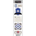 Scrapbook Customs - Travel Photo Journaling Collection - Doo Dads - Self Adhesive Metal Badges - Israel