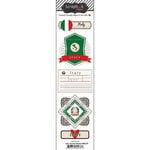 Scrapbook Customs - Travel Photo Journaling Collection - Doo Dads - Self Adhesive Metal Badges - Italy