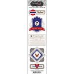 Scrapbook Customs - Travel Photo Journaling Collection - Doo Dads - Self Adhesive Metal Badges - Thailand