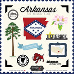 Scrapbook Customs - State Sightseeing Collection - 12 x 12 Cardstock Stickers - Arkansas