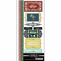 Scrapbook Customs - World Collection - Cardstock Stickers - Explore - Africa