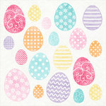 Scrapbook Customs - 12 x 12 Cardstock Stickers - Easter Eggs