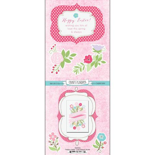 Scrapbook Customs - Card Craft Plaque Sticker - Easter Greeting