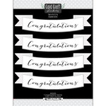 Scrapbook Customs - Card Craft Stickers - Congratulations Banner