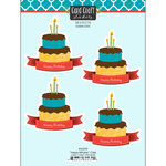 Scrapbook Customs - Card Craft Stickers - Happy Birthday with Banner