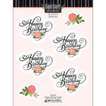 Scrapbook Customs - Card Craft Stickers - Happy Birthday with Flowers