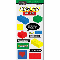Scrapbook Customs - Cardstock Stickers - Building Block