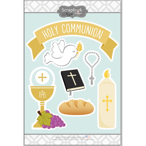 Scrapbook Customs - Cardstock Stickers - Holy Communion